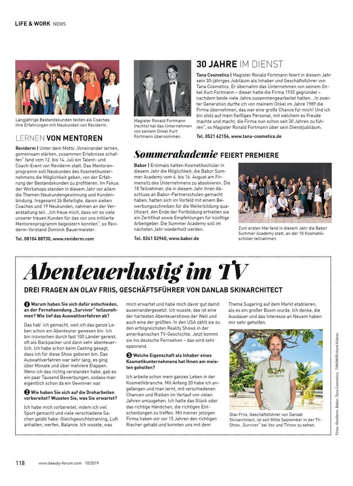 3 Fragen an Olav Friis - SURVIVOR