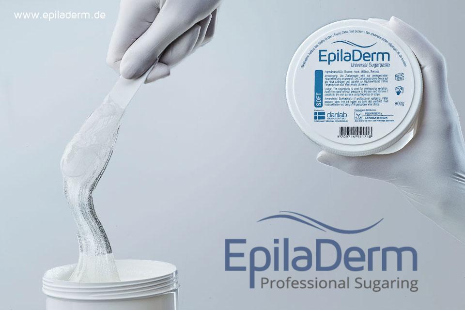 EpilaDerm Werbung für Ihr Sugaring Studio